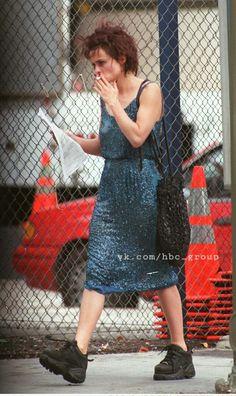 Helena Bonham Carter on the set of Fight Club (1999)