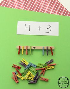 Addition Activity for Grade 1 - Planning Playtime - Modern Design Preschool Activities At Home, Addition Activities, Preschool Learning, Kindergarten Activities, Educational Activities, Fun Learning, Toddler Activities, Learning Activities, Teaching Kids