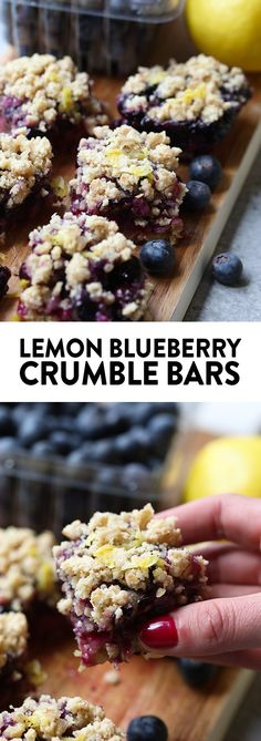 These Lemon Blueberry Crumble Bars are gluten-free and made with whole and healthy ingredients. You can't beat the refreshing punch of lemon zest and the sweetness of the blueberries. It's the perfect healthy dessert all summer long!