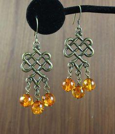 Amber  Celtic Knot earrings  Outlander Inspired by KLFStudio