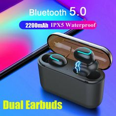 Bluetooth 5 0 Headset TWS Wireless Earphones Twins Earbuds 5D Stereo Headphones 13