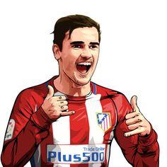 Antoine Griezmann  Atlético Madrid affiche