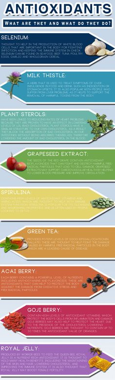 What are antioxidants and what do they do? This infographic breaks it down...