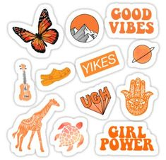 'Orange Pack' Sticker by sifasunny – Car stickers Tumblr Stickers, Phone Stickers, Journal Stickers, Cool Stickers, Printable Stickers, Images Esthétiques, Collage Mural, Homemade Stickers, Orange Aesthetic