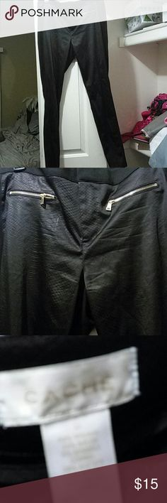 Cache pants Reptile print Cache Pants Straight Leg