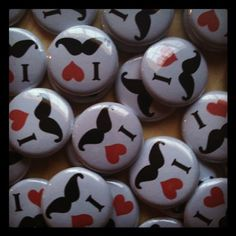 Set of 20 1 Inch I Love Mustache Pin Back Buttons for Birthday Party Favors Handmade With heART Boutique LLC http://www.amazon.com/dp/B00N50WP6E/ref=cm_sw_r_pi_dp_WiNBvb0P5GG2X