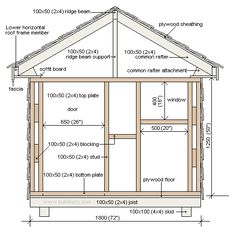 Play House Design | Free playhouse plans. Footprint plan and front elevation plan
