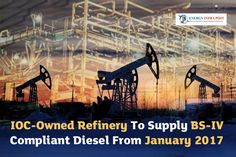 """Indian Oil BSE 1.28 % Corp-owned Gujarat refinery will supply Bharat Stage (BS)-IV compliant diesel from January 2017, a senior official has said. """"For producing BS-IV complaint fuel, IOCBSE 1.28 % is spending Rs 1,800 crore towards revamping its three diesel treating and hydro-treating units at Gujarat Refinery. #BharatStage #BSE #GujaratRefinery #IndianOil #IOCBSE"""