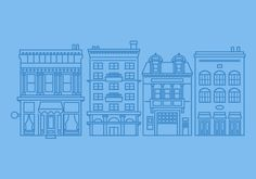Brooklyn Building Illustrations by Micah Lindenberger, via Behance