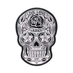 Hot Leathers Sugar Skull Patch