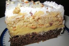 Torte Recepti, Kolaci I Torte, Baking Recipes, Cake Recipes, Dessert Recipes, No Cook Desserts, Just Desserts, Brze Torte, Torta Recipe