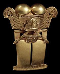 Anthropo-zoomorphous pendant, Choco Region, 500-1600 A.D.
