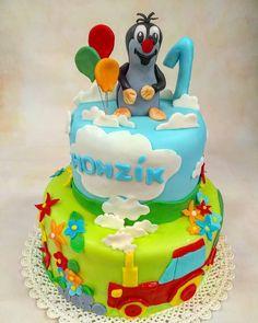 Krtek nejen do vašich zahrádek, ale i krteček postavička z večerníčku na dortu, www.cukrovi-kuncovi.cz dětské dorty pro děvčátka i chlapečky, vhodné do doby než je osloví tablety, počítače , televize, mobily Kuncovi, Brno - Maloměřice, Hádecká 8 Birthday Cake, Desserts, Food, Tailgate Desserts, Deserts, Birthday Cakes, Essen, Postres, Meals