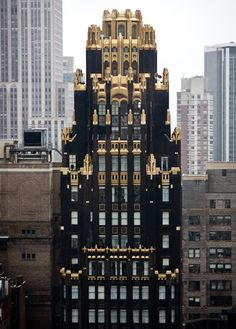 I love this building painted in the black and gold