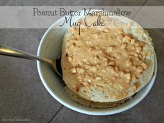 Cellucor Peanut Butter Mashmallow Whey Protein Mug Cake via @BarrAndTable