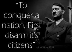 The Voice of a Tyrant: Now Obama wants your Guns! Therefore, in closing, if you decide to relinquish your rights to bear arms, the rest of your rights will go right along with it.