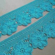 Lindos Barrados feitos em Crochê Crochet Lace Edging, Crochet Borders, Crochet Cross, Crochet Flower Patterns, Crochet Art, Crochet Home, Love Crochet, Filet Crochet, Easy Crochet