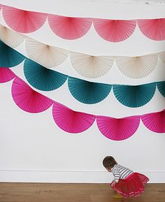 Paper Fan Bunting - kiiiind of want for the wedding