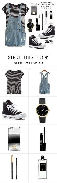 """""""Cute School Outfit"""" by butterflys999 ❤ liked on Polyvore featuring MANGO, Converse, Michael Kors, Lord & Berry, Yves Saint Laurent, Serge Lutens and NARS Cosmetics"""