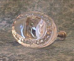 Set Of 10  Glass Cabinet Knobs Drawer Pulls Hardware Oval O10. $32.90, via Etsy.
