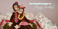 Adorable Monkey Family created by Jenny for our first birthday in Wonders Of The World, Dollhouse Miniatures, First Birthdays, Monkey, Artisan, Christmas Ornaments, Create, Holiday Decor, Handmade