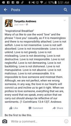 """Love Is Not"""