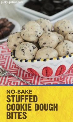 Rather than bake your favorite treat, make this recipe for No-Bake Stuffed Cookie Dough Bites. Each bite-size ball is filled with crispety, crunchety, peanut-buttery pieces of BUTTERFINGER® Bites. Click here to see the full recipe!