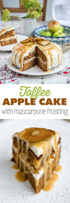 Toffee Apple Cake with Whipped Mascarpone Frosting