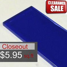 Discount Glass Tile Store - 3x6 Glass Subway Series - Cobalt Blue, $5.95 (http://www.discountglasstilestore.com/3x6-glass-subway-series-cobalt-blue/)