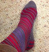 Ravelry: On the Bias Socks pattern by Stephanie Carrico free pattern