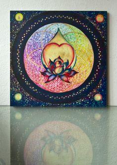 """The Drop of Golden Rain"" - Mandala of Wealth & Wellness"