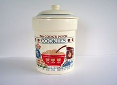 The Cook's Nook Cookie Jar made in USA by Treasure Craft