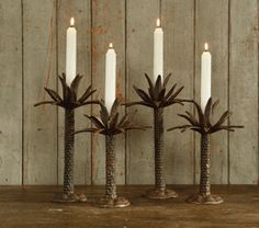Palm Tree Candlesticks