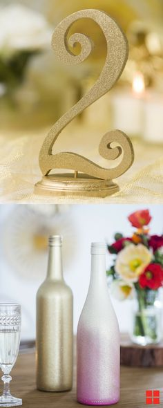 Make the wedding of your dreams a reality while staying within your budget. Here's a few tips for stretching your creativity for your special day. Empty Liquor Bottles, Wine Bottles, Rustoleum Spray Paint, Diy Wedding, Wedding Ideas, Diy Nursery Decor, Rustic Outdoor, Receptions, Reception Decorations