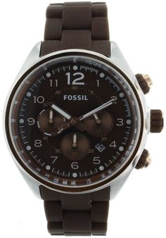Price:$100.38 #watches Fossil CH2727, Stainless steel case, Stainless steel and silicone bracelet, Brown dial, Quartz movement, Scratch-resistant mineral, Water resistant up to 10 ATM- 100 Meters - 330 Feet