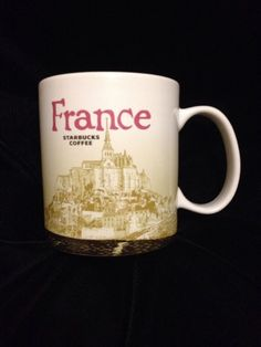 Starbucks France Icon Mug Coffee Brown White City New Mont St Michel US Ship #Starbucks