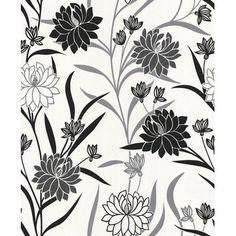 A.S. Creation Vliestapete Blumen Schwarz kaufen bei OBI