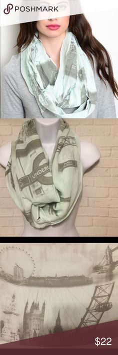 London infinity scarf 🆕 perfect gift 🎁 This is a beautiful city of London featuring very detailed sights of London.  This scarf is Brand New with tags and would make the perfect gift or stocking stuffer. Buy with confidence I am a Posh Ambassador, top rated seller, mentor and fast shipper.  Don't forget to bundle and save.  Thank you. Accessories Scarves & Wraps