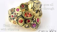 Stipple Finish Explained - A Wonderful, Underused, Design Element - Calla Gold Jewelry