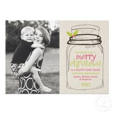 Popular Holiday Cards for 2012 #christmas #cards #holiday #rustic #masonjars #inspiration