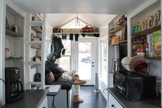 Tiny Happy Homes - I love the storage over the door (including clothes rod)