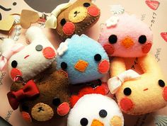 super cute hand made felt plushies-i really love these :-) :-) :-) :-) :-)