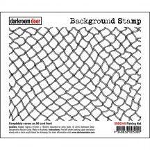 Darkroom Door Fishing Net Rubber Background Stamp with cling foam - DDBS048