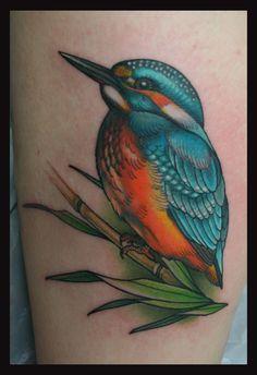 3d kingfisher tattoo - Google Search