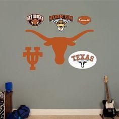 Fathead Texas Longhorns Logo, Multicolor
