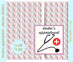 doctor stickers - instant download - printable clinic planner stickers - doctor's appointment - health planner - commercial use allowed (1.80 USD) by RoseClipArt