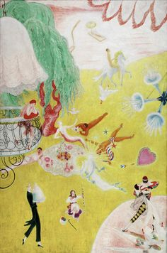 Love Flight of a Pink Candy Heart by Florine Stettheimer from Detroit Institute of Arts