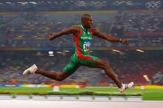 BEIJING - AUGUST 21:  Nelson Evora of Portugal competes in the Men's Triple Jump Final held at the National Stadium during Day 13 of the Beijing 2008 Olympic Games on August 21, 2008 in Beijing, China.  (Photo by Stu Forster/Getty Images)