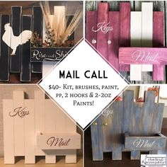 Mail Call kit from Chalky & Company #chalkymommy #DIYdecor