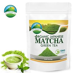Matcha Green Tea Powder, Japanese Organic Premium Drinking Quality, Antioxidant, Enhance Metabolism, Healthy Diet and Lifestyle, Latte Smoothie Energy Booster Drink from Japan by Pure Mountain Tea *** Click image for more details.